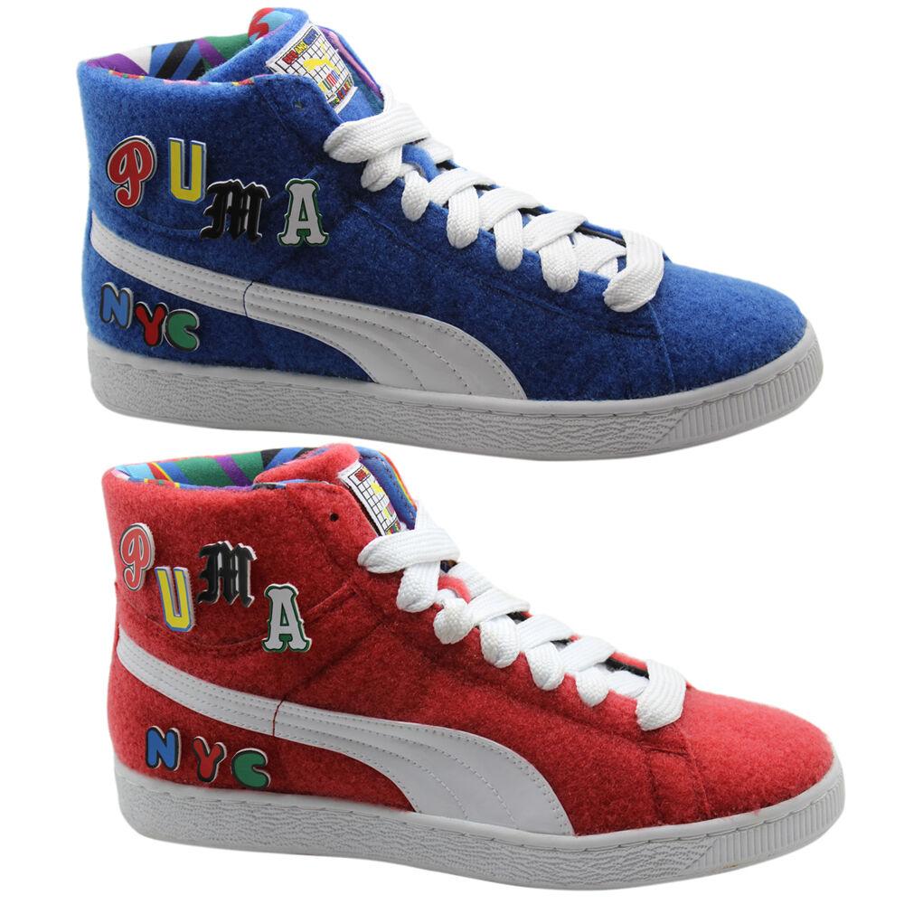 Puma Cesto x DEE & Ricky Whimsical MUNDO Unisex Medio Zapatillas Azul Rojo