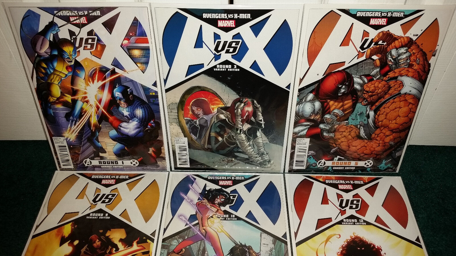 Avenergs Vs. X-men AVX Variant Covers Round 1 Romita  3 Pichelli  12 Kubert +