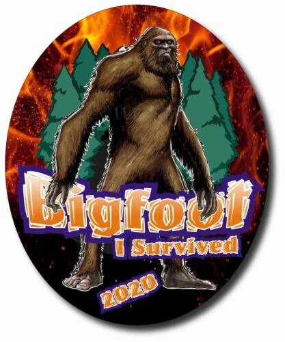 2X Bigfoot I Survived 2020 Sticker Decal Vinyl