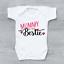 miniature 1 - Mummy Is My Bestie Cute Funny Girls Baby Grow Bodysuit