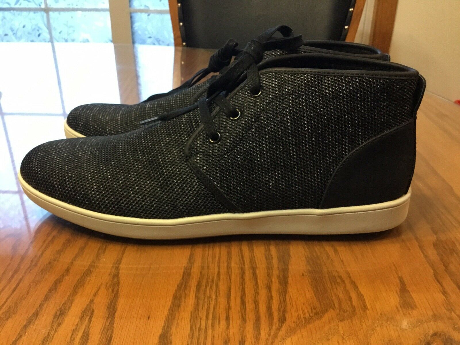 """Men's """"Steve Madden"""" Fowler Mid-top Mesh And Leather Sneakers, Size 10.5M"""