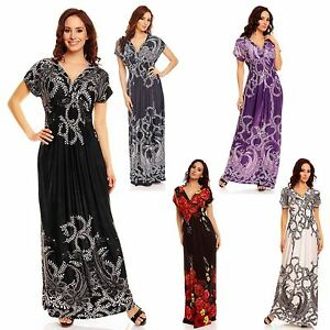 54f5f82ad48a4 Image is loading Ladies-Floral-Print-Summer-Beach-Casual-Holiday-Sundress-