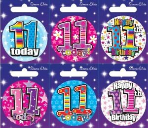 Age 7 7th Birthday Badge Boy Girl Small Badge Childrens Party Gift Present