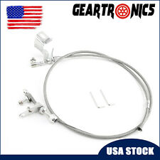 New 727 Stainless Braided Kickdown Cable Detent Mopar Transmission Fits Chrysler