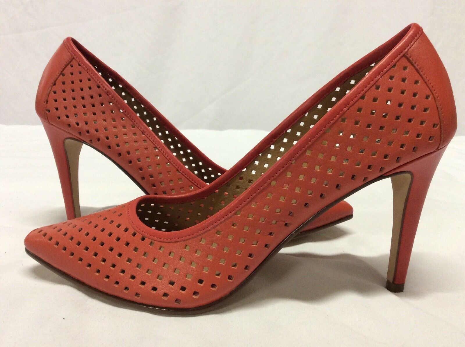 Halogen Mandie Women's Pumps shoes, Red Leather, Size 8.5 8.5 8.5 M ..FS1 cebfa4