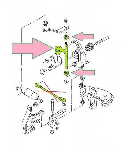 siehe Liste unten 6K1 Umlenkwelle Schaltung Schaltgestänge SEAT IBIZA II