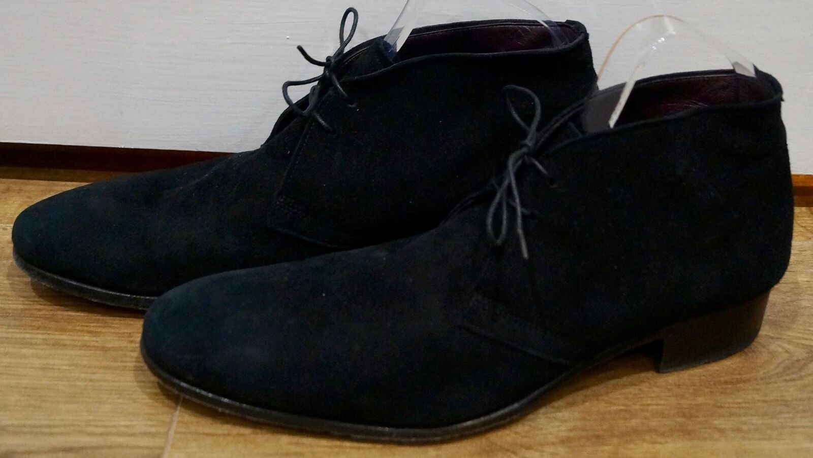 LIDFORT MADE IN ITALY Menswear Neri in Pelle Scarpe Scamosciata Alto Top Lacci Scarpe Pelle Casual UK8 0694fe
