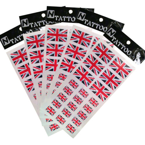 UNION JACK FLAG TATTOOS X21 FREE DELIVERY!
