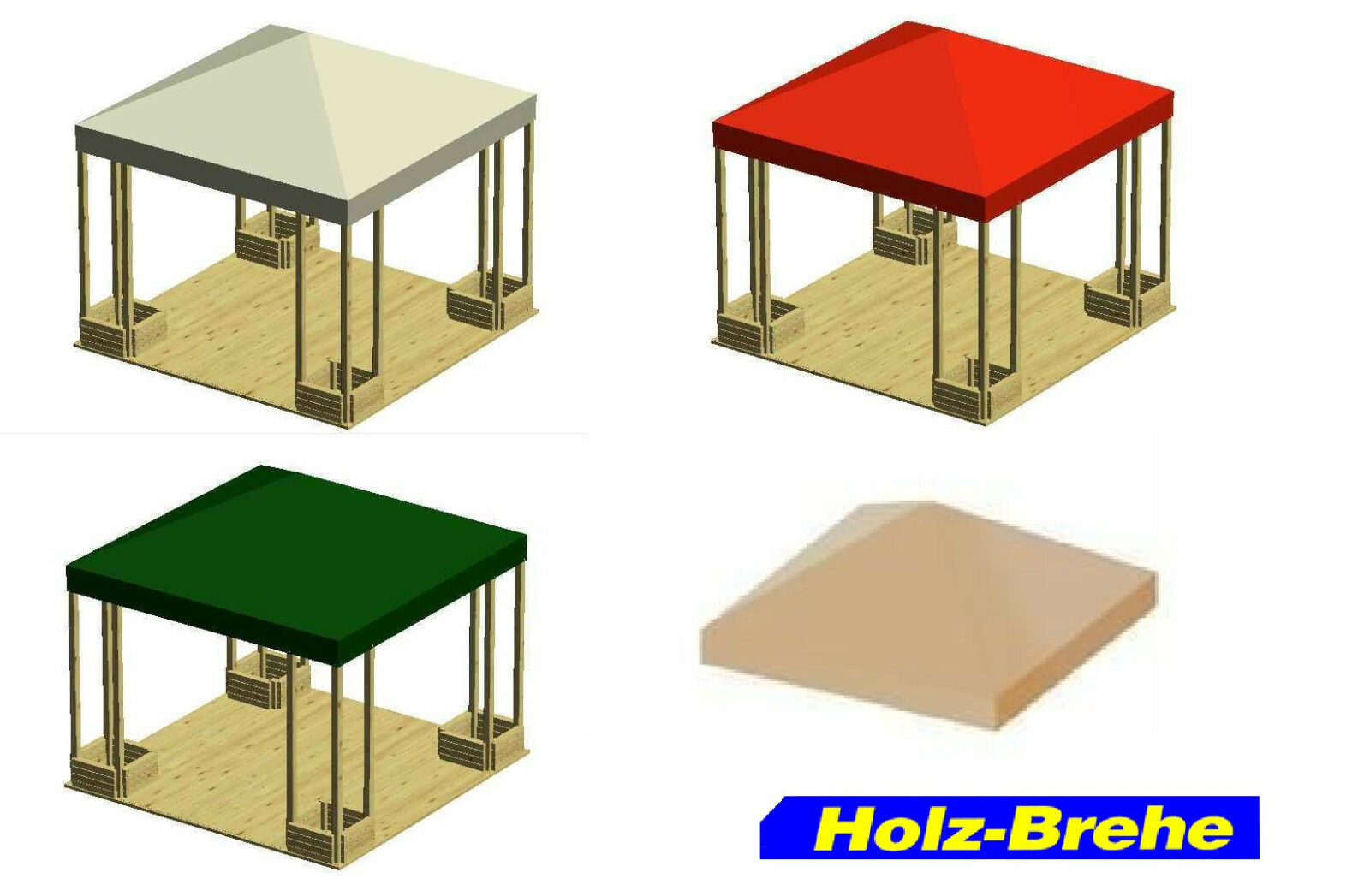 Neues Dach Traumgarten HolzPavillon Pavillondach 291x291 cm Spenglerschrauben A2