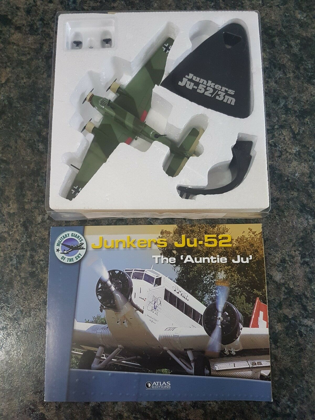 Atlas Editions 1 144 Junkers Ju-52 Transport Transport Transport Collectors Great Condition Rare 17ad4e