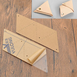 diy wallet tool stencils triangle coin purse leather