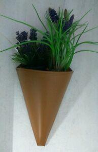 Pflanztuete Pot De Fleurs Pflanzschale Pour Accrocher En Métal 28x12cm Marron-afficher Le Titre D'origine AgréAble En ArrièRe-GoûT