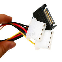 15 Pin SATA Male to Molex 4 Pin IDE Female Power Adapter Cable Serial ATA HDD TT