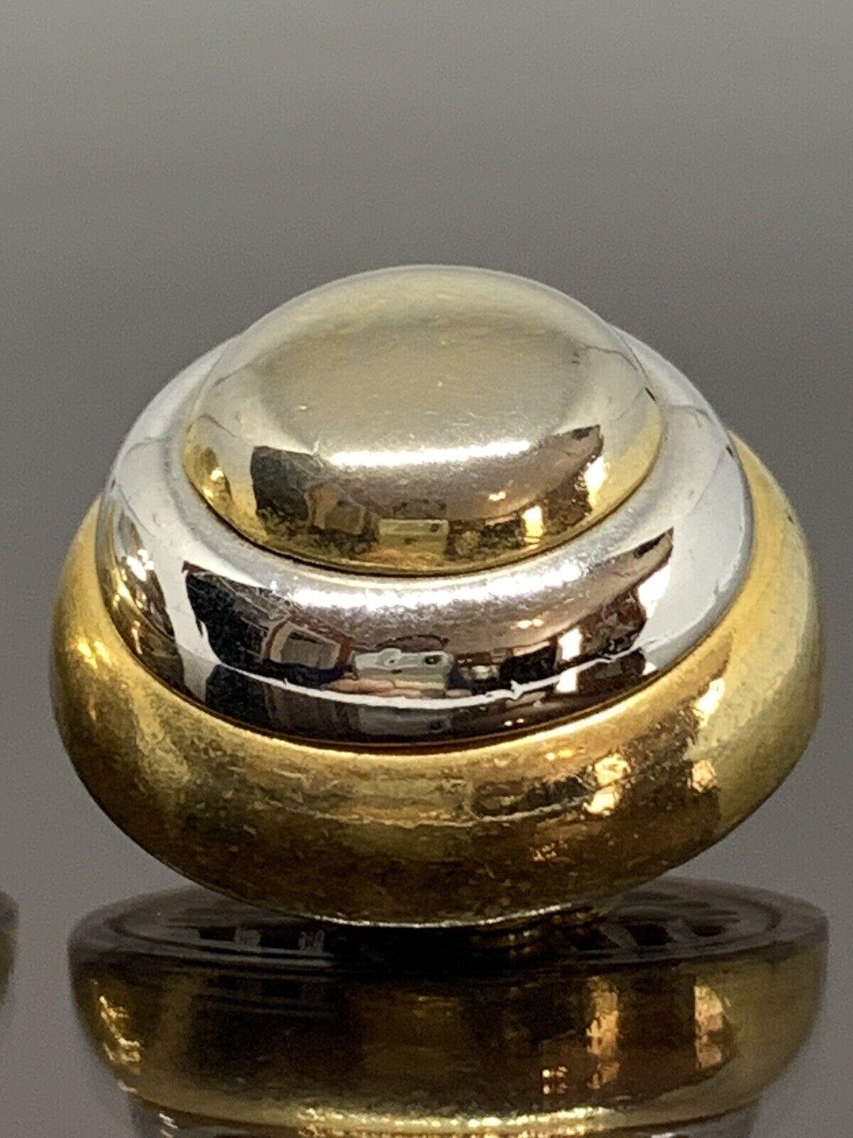 Vintage Lanvin Paris Couture Clip Earrings 2 Tone… - image 2