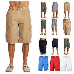 One-Tough-Brand-Mens-Cargo-Shorts-Belted-Casual-Hiking-Workout-Jogger-Camping