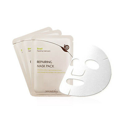 [Secret Key] Snail Repairing Mask Pack - 3pcs