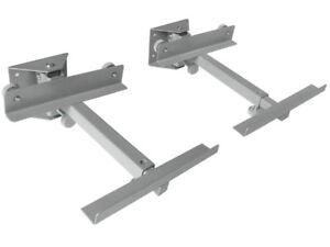 2-x-Boxenhalterung-Lautsprecherhalterung-Wandhalter-Boxen-Halterung-silber-BH2S