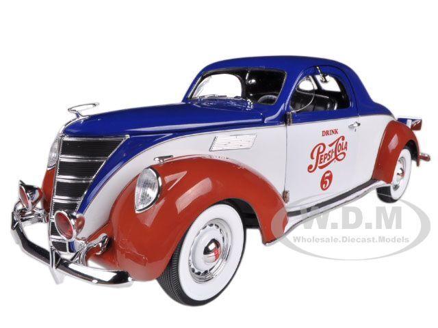1937 LINCOLN ZEPHYR COUPE  PEPSI COLA  1 18 LTD 1500PC AUTOWORLD AW205