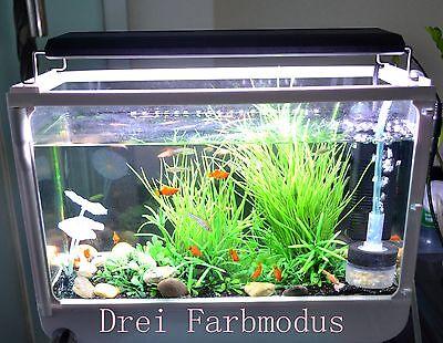 HI-Lumen Aquarium Beleuchtung LED Aufsatzleuchte Aluminiumgehäuse Lampe DHL