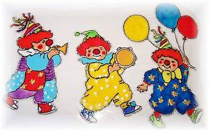Details Zu Elas Fensterbilder Lustige Clown Parade