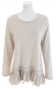LOGO-by-Lori-Goldstein-Ruffle-Hem-Long-Sleeve-Top