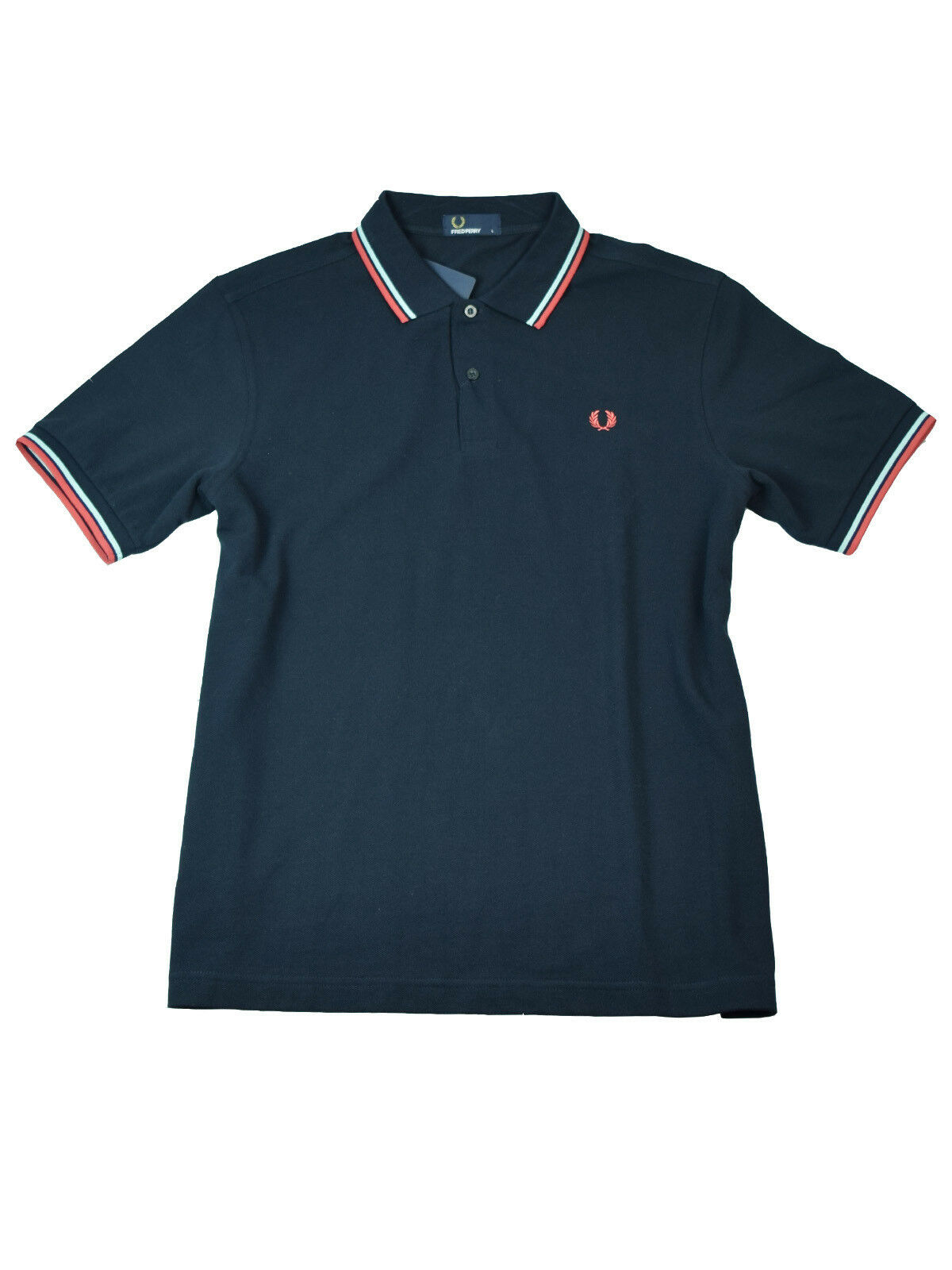Fred Perry Polo - Shirt M1200 806 Navy   Hellblue   red  5757