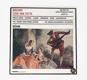 Vintage 1968 MOZART Cosi Fan Tutte Bohm Richmond/London 63008 3 LP Box Vinyl M-