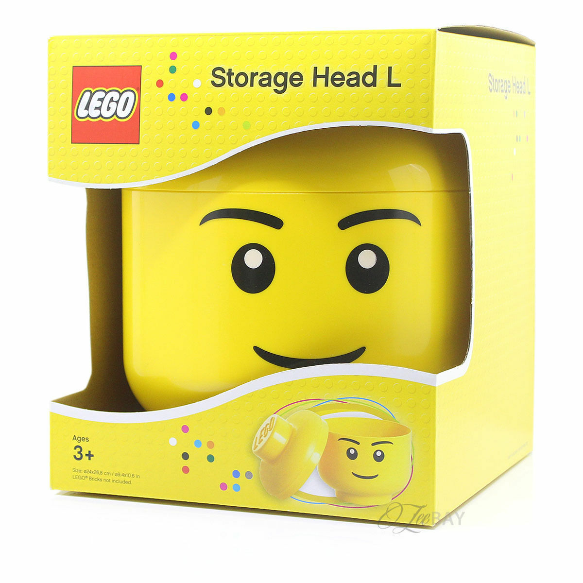 LEGO STORAGE HEAD LARGE BOYS BRAND NEW IN BOX FREE P&P