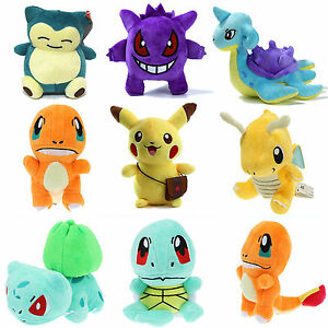 Pokemon-Pikachu-Squirtle-Snorlax-Charmander-Plush-Toys-Stuffed-Kids-Teddy-Gifts
