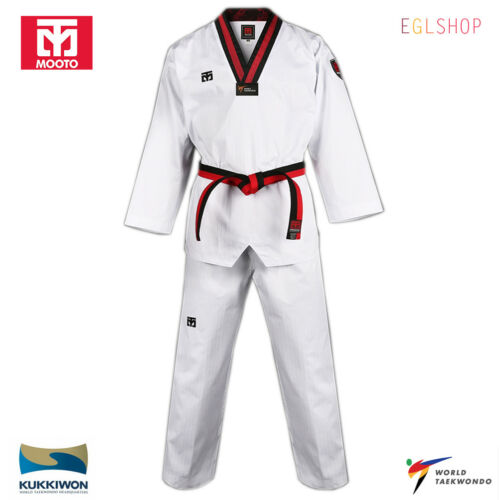 Mooto BS4//4.5 3 POOM Taekwondo Uniform WT Kids Dobok Junior TKD Martial Arts