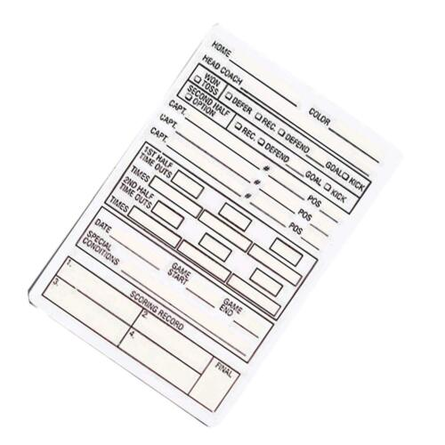 SMITTYPlastic Reusable Football Game CardACS-535Officials Choice