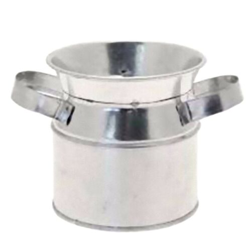 Galvanised Metal Mini Milk Urn Novelty Tableware Cafe Home Barbeque Party Pot