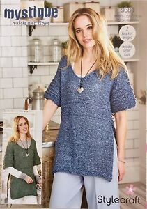 Stylecraft-9380-Knitting-Pattern-quick-and-light-Tops-in-Mystique