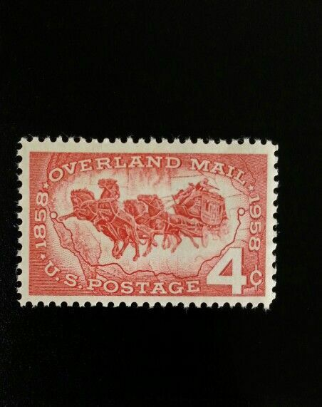 1958 4c Overland Mail, Stagecoach, 100th Anniversary Sc
