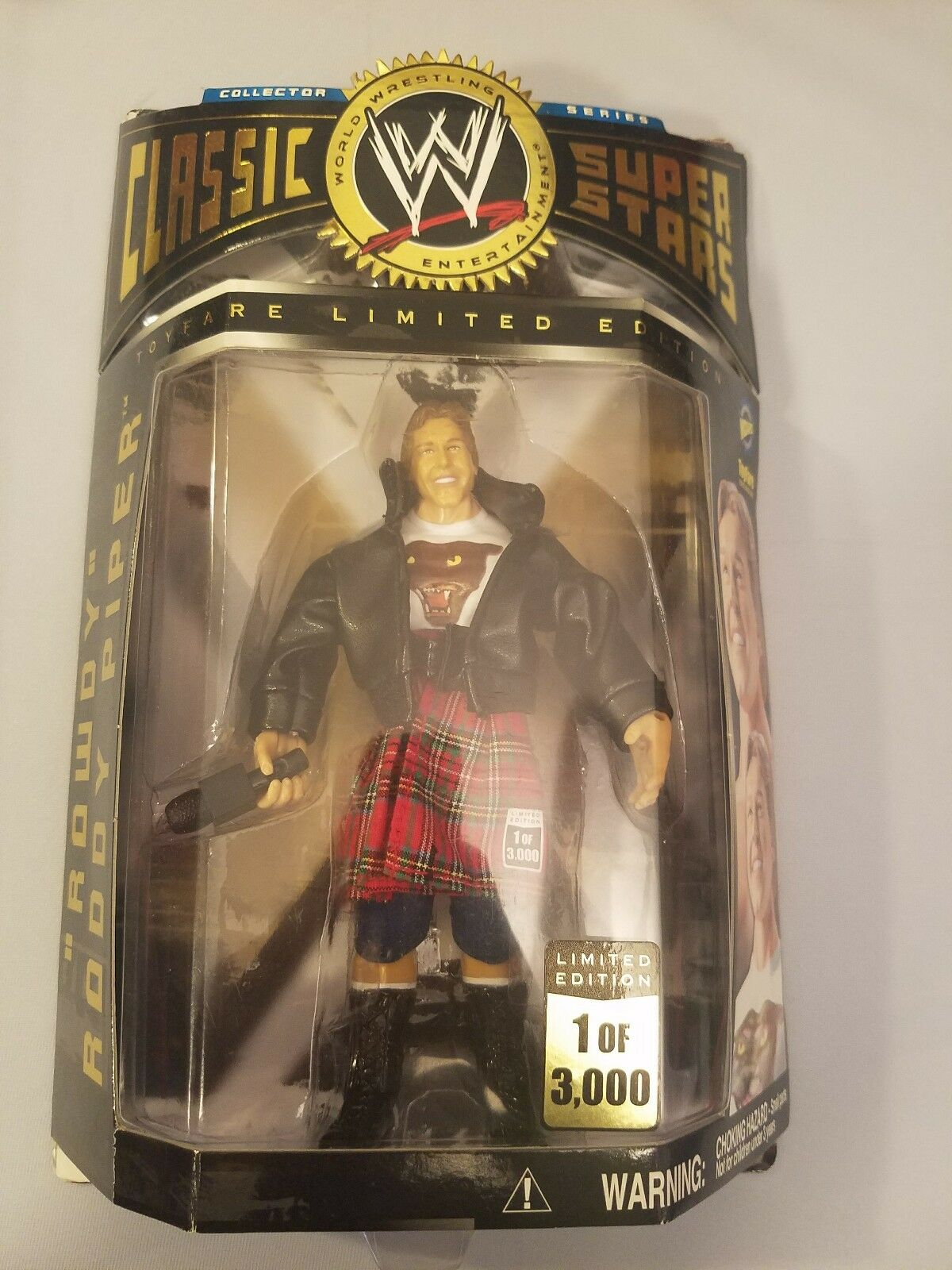 WWE JAKKS CLASSIC SUPERSTARS RODDY PIPER SEALED  1 OF 3000