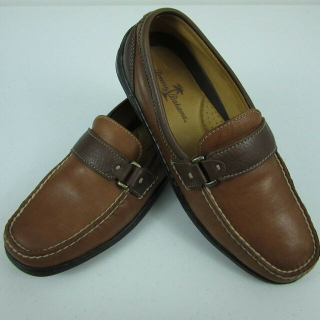 a34f9898a30 Tommy Bahama Leather Slip On Loafers TB 326 Brandy Brown Espresso Mens 7M  Shoes