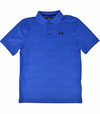 UNDER ARMOUR MENS ROYAL BLUE STRIPED LOOSE FIT PERFORMANCE GOLF POLO SHIRT S $54