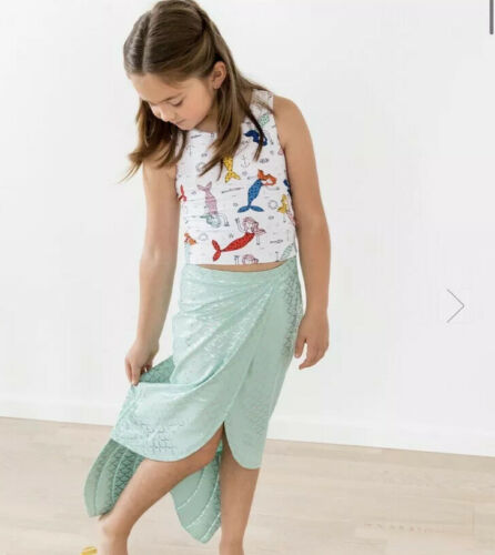 NWT HANNA ANDERSSON SWIM COVER-UP BLUE MERMAID TAIL SKIRT M L 8-12 130 140 150