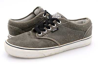 Vans Mens 9 Atwood Gray Leather Comfort Lace Up Athletic Sneakers ...