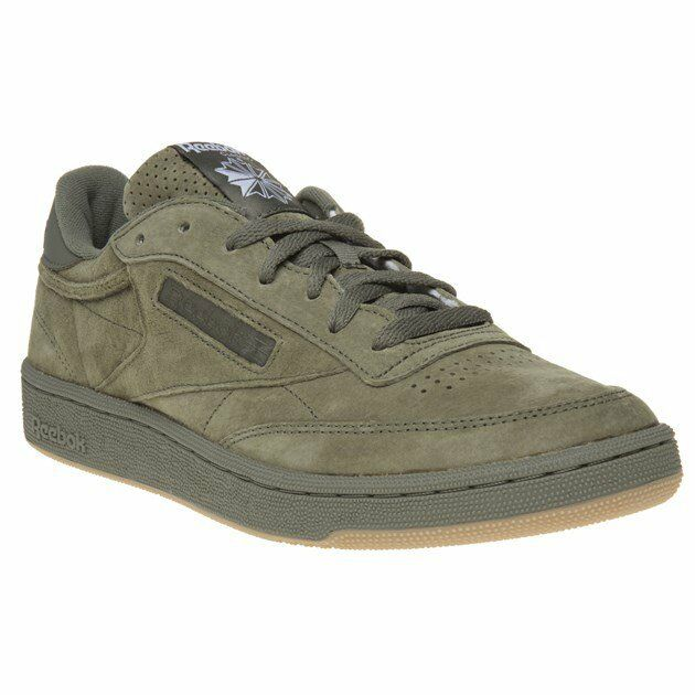 Mens Reebok Green Club C 85 Sg Suede Sneakers Court Lace Up