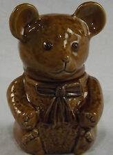 Teddy Bear Honey Jam Lidded Pot Jar Treacle Glazed Storage Container Devon Made