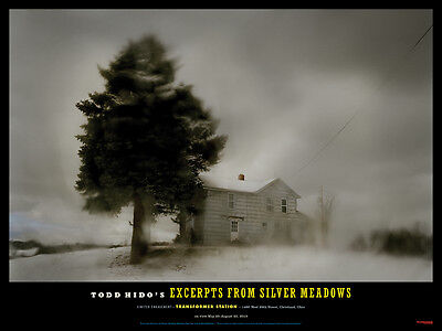 """TODD HIDO /'Christmas Lights/' Silver Meadows 2013 Exhibition Poster 12/"""" x 16/"""" NEW"""