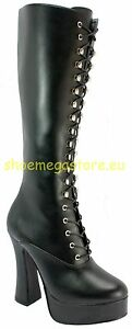 Demonia Easy High Heels Pu Gothic rr46RX