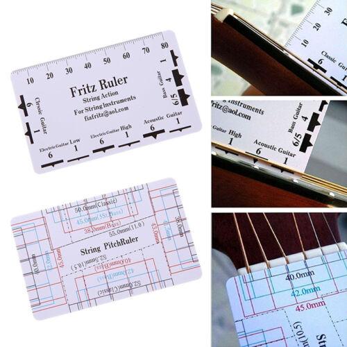 Gitarre String Action Gauge Ruler Lineal Geigenbauer Werkzeug Für Guitar Ba M1N3