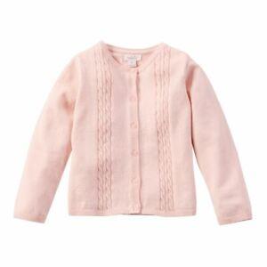 Mud Pie Infant Girls Pink Cable Knit Zip Hoodie