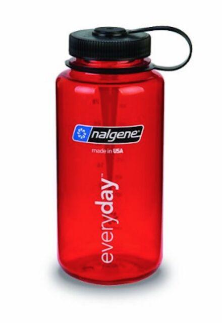 Nalgene Tritan 32 Oz Wide Mouth Red W Black Cap Water Bottle 2178 2023 for sale online