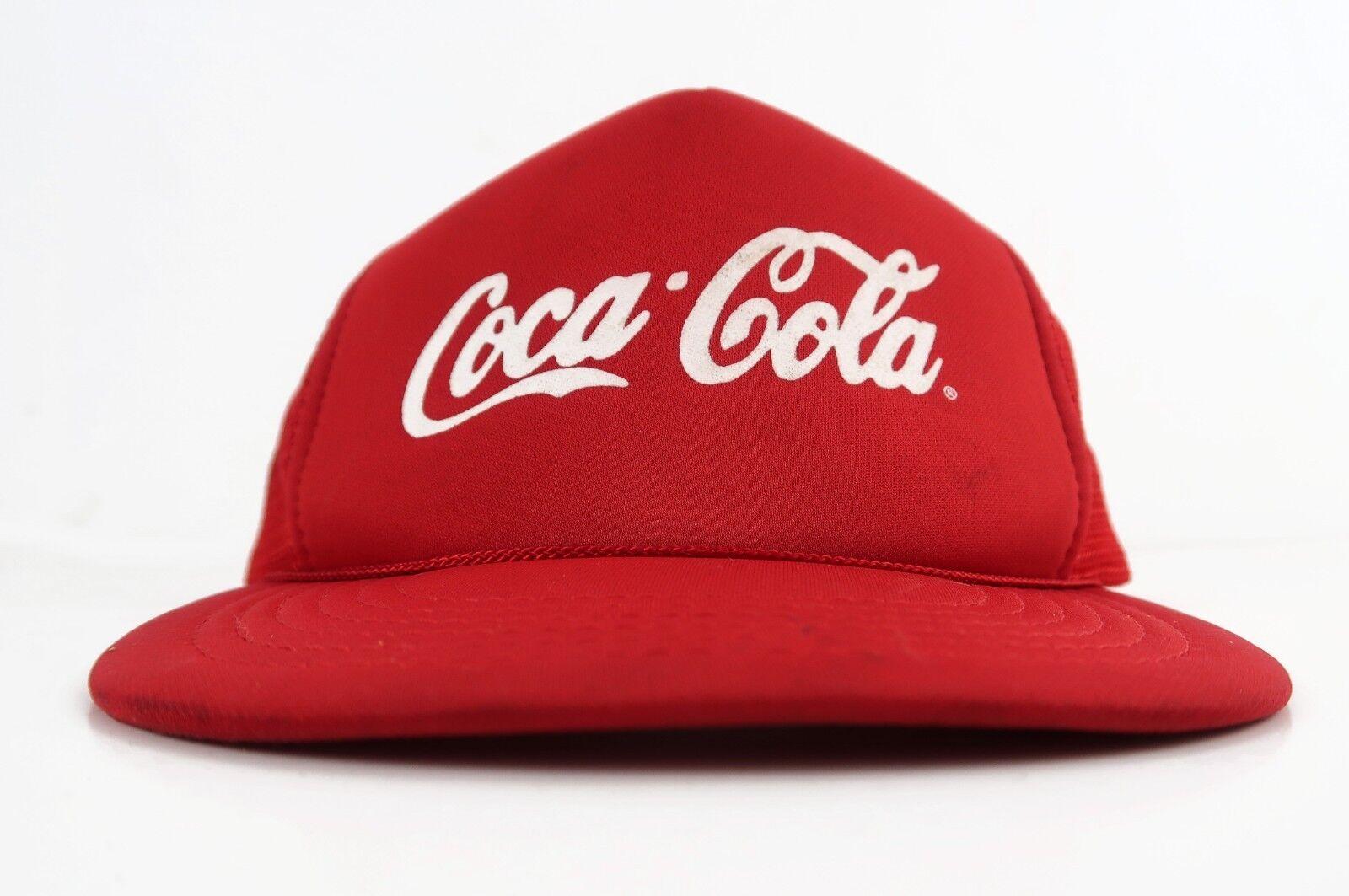 Coca Cola Coke Snapback Red 80s True Vintage Mesh Trucker Snapback Coke Hat Rare 750e55