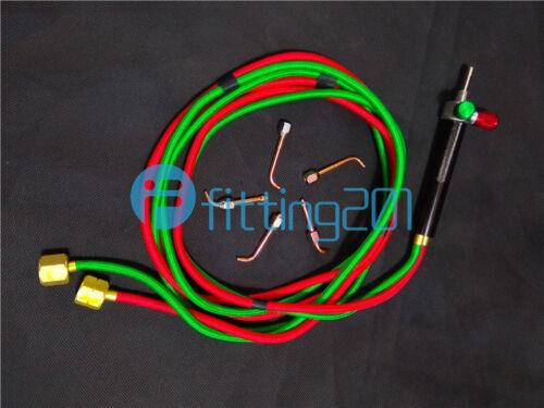 1PCS Welder Gas Oxygen Butane Welding torch Gun Cutting Kit With 5 Nozzles NEW