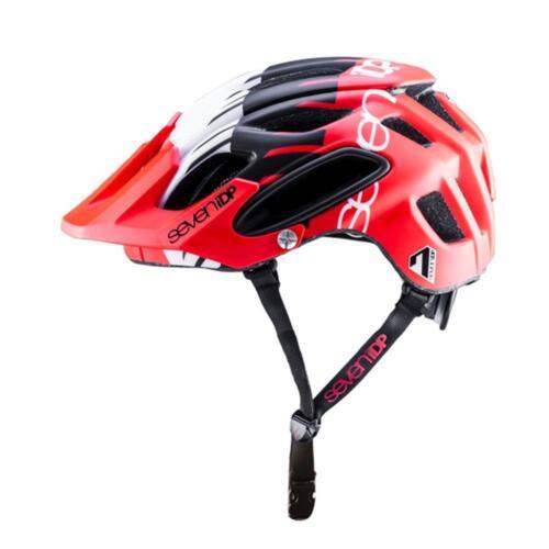 All Mountain MTB Enduro Casco ciclo 7IDP M2 Tattica Rosso Bianco