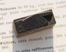 Pointing Hand Finger Letterpress Wooden Printing Block Wood Printers Font Abc